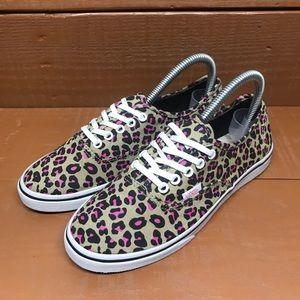 Vans Cheetah Print Womens Sz 6.5